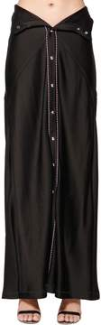 Diesel Black Gold Viscose Satin Long Skirt