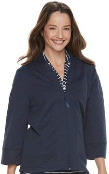 Croft & Barrow Women's Quilted Bed Jacket