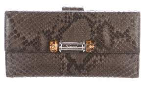 Gucci Python Bamboo Wallet - BLACK - STYLE