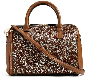 Vera Bradley Downtown Dots Marlo Leather Satchel - DOWNTOWN - STYLE