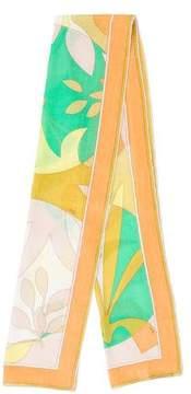 Emilio Pucci Multicolor Abstract Print Scarf