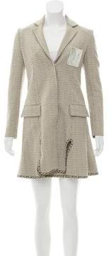 Christian Dior Patterned Mini Skirt Suit
