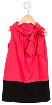 Milly Minis Girls' Bow-Accented Colorblock Dress