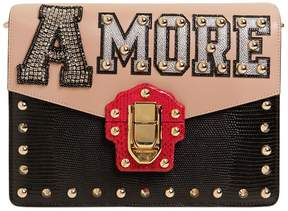 Dolce & Gabbana Medium Lucia Snakeskin & Leather Bag