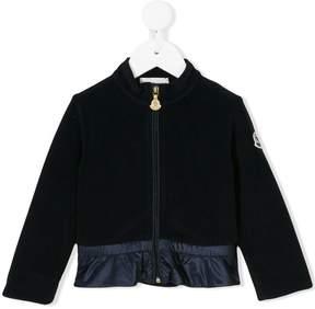 Moncler panelled zip jacket