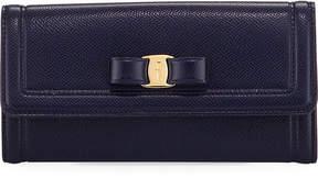 Salvatore Ferragamo Vara Bow Continental Flap Wallet