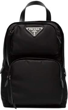 Prada black one-shoulder nylon backpack