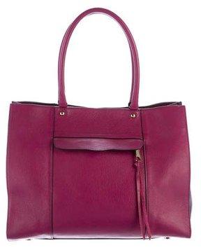 Rebecca Minkoff Leather M.A.B Tote - BURGUNDY - STYLE