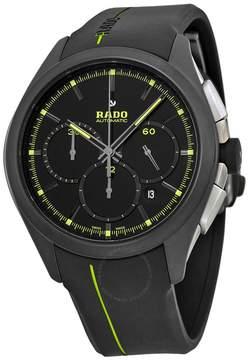 Rado Hyperchrome Chronograph Black Dial Black Rubber Men's Watch