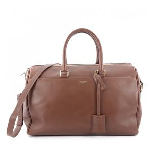 Saint Laurent Brown Leather Handbag - BROWN - STYLE