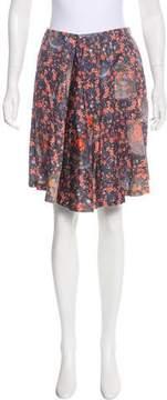 Cacharel Printed Knee-Length Skirt w/ Tags