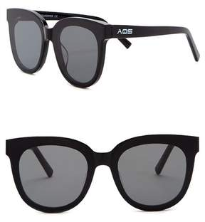 Cat Eye AQS Iris 65mm Oversized Sunglasses