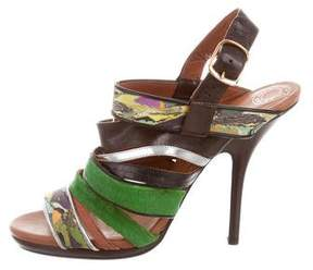 Dries Van Noten Leather Multistrap Sandals