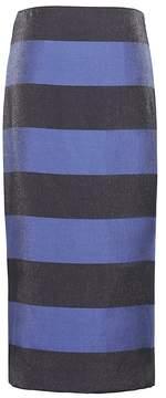 Banana Republic Stripe Pencil Skirt with Side Slit