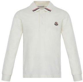 Moncler Maglia Long-Sleeve Polo, Size 8-14