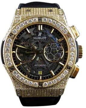 Hublot Classic Fusion Pele 18K Yellow Gold With 10.5 Ct Diamond 45mm Watch