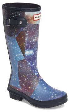Hunter Girl's Space Camo Waterproof Rain Boot