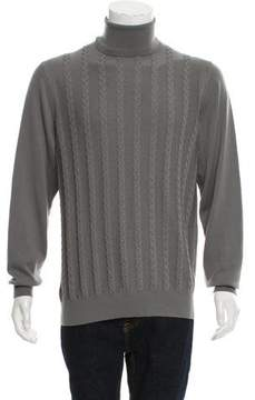 Gianni Versace Cable Knit Turtleneck Sweater