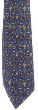 Hermes Monkey Print Silk Tie