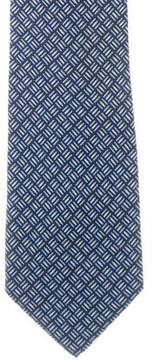 Salvatore Ferragamo Pencil Print Silk Tie
