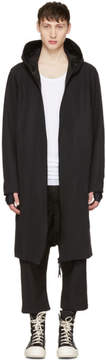 11 By Boris Bidjan Saberi Black Scarf Coat