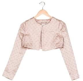 Armani Junior Girls' Jacquard Cropped Jacket