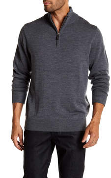 Tailorbyrd Washable Wool Quarter Zip Sweater