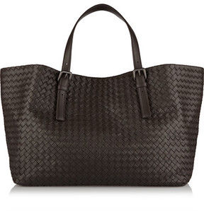 Bottega Veneta - Intrecciato Leather Tote - Dark brown