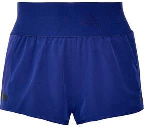adidas by Stella McCartney Climacool Train Mesh-trimmed Stretch Shorts - Royal blue