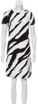 Class Roberto Cavalli Abstract Print Knee-Length Dress