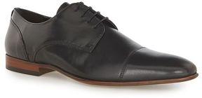 Topman Black Leather Toecap Shoes