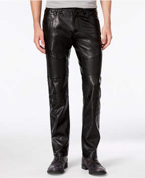 INC International Concepts Men's Slim-Fit Faux Leather Pants, Created for Macy's
