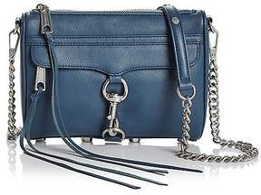 Rebecca Minkoff Mini MAC Leather Crossbody - OCTAVIO BLUE/SILVER - STYLE