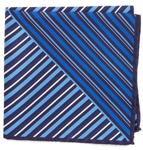 Eton Men's Stripe Silk Pocket Square