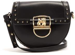BALMAIN 44-18 leather cross-body bag