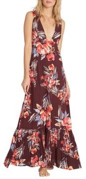 Billabong Women's Awoke For Waves Floral Print Maxi Dress