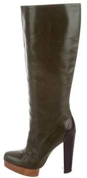 Marni Leather Platform Boots