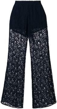 Pinko semi-sheer lace trousers