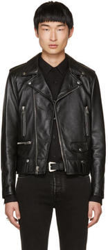 Saint Laurent Black Leather Blood Luster L01 Jacket