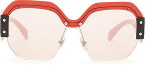 Miu Miu Mu9ss irregular sunglasses