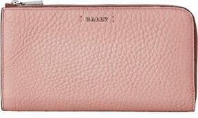 Bally Blush Leather Zip-Around Wallet