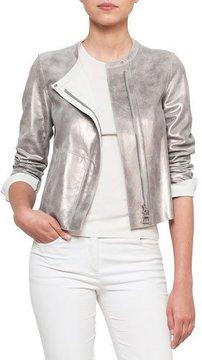 Akris Zip-Front Reversible Napa Leather Jacket