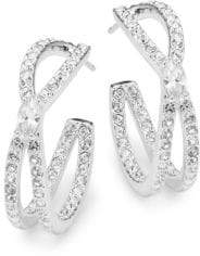 Adriana Orsini Crystal Intertwine Hoop Earrings