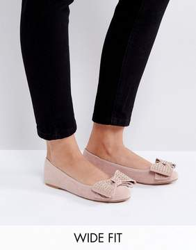 London Rebel Bow Ballerina Pumps