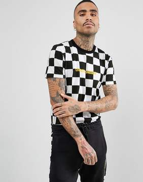 Criminal Damage T-Shirt In Checkerboard