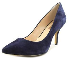 INC International Concepts Zitah Women W Pointed Toe Suede Blue Heels.