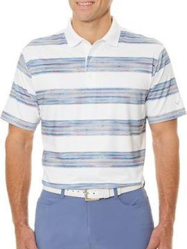 Callaway Short Sleeve Opti-Dri Rugby Stripe Print Polo