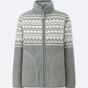 Uniqlo Boy's Printed Fleece Full-zip Long-sleeve Jacket