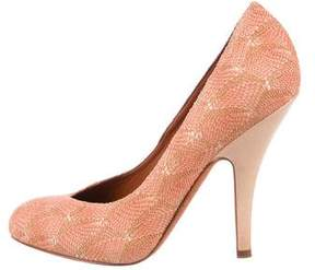 Missoni Knitted Round-Toe Pumps