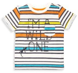 Petit Lem Little Boy's Printed & Striped Tee